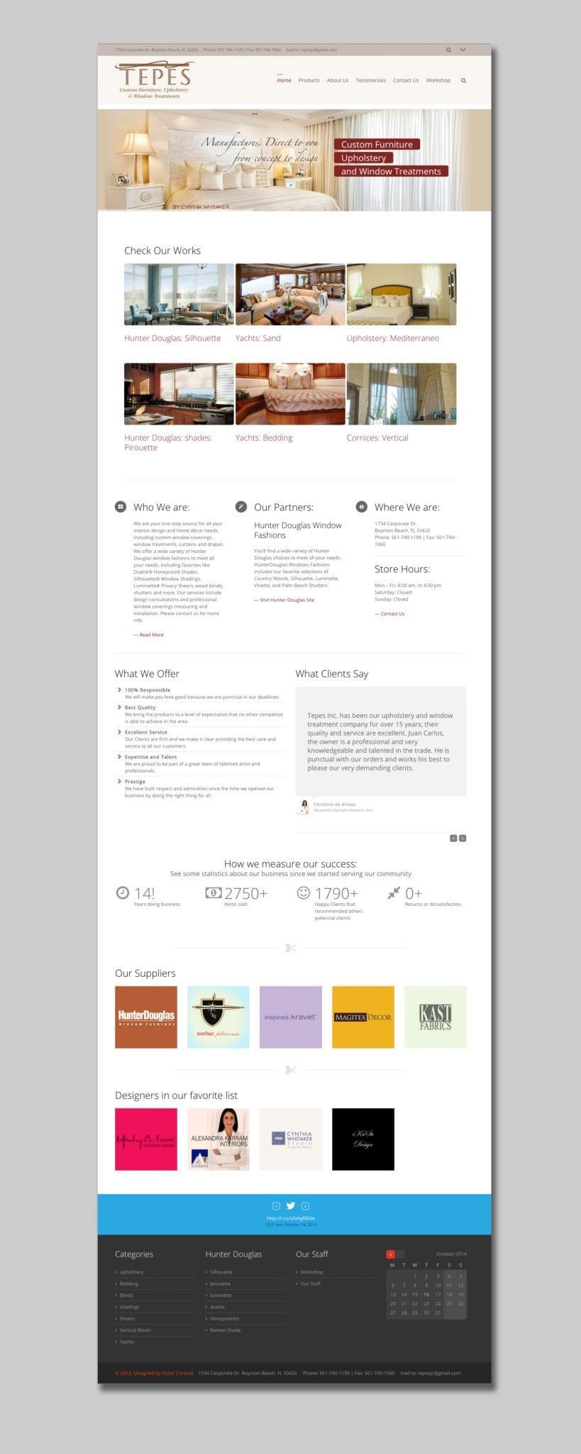Tepes Web Site Mockup